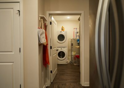 stackable washer and dryer in a Lyndhurst, NJ apartment for rent at The Winston