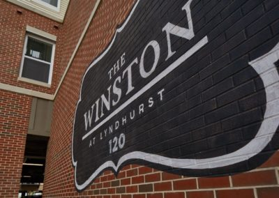 The Winston at Lyndhurst apartments sign